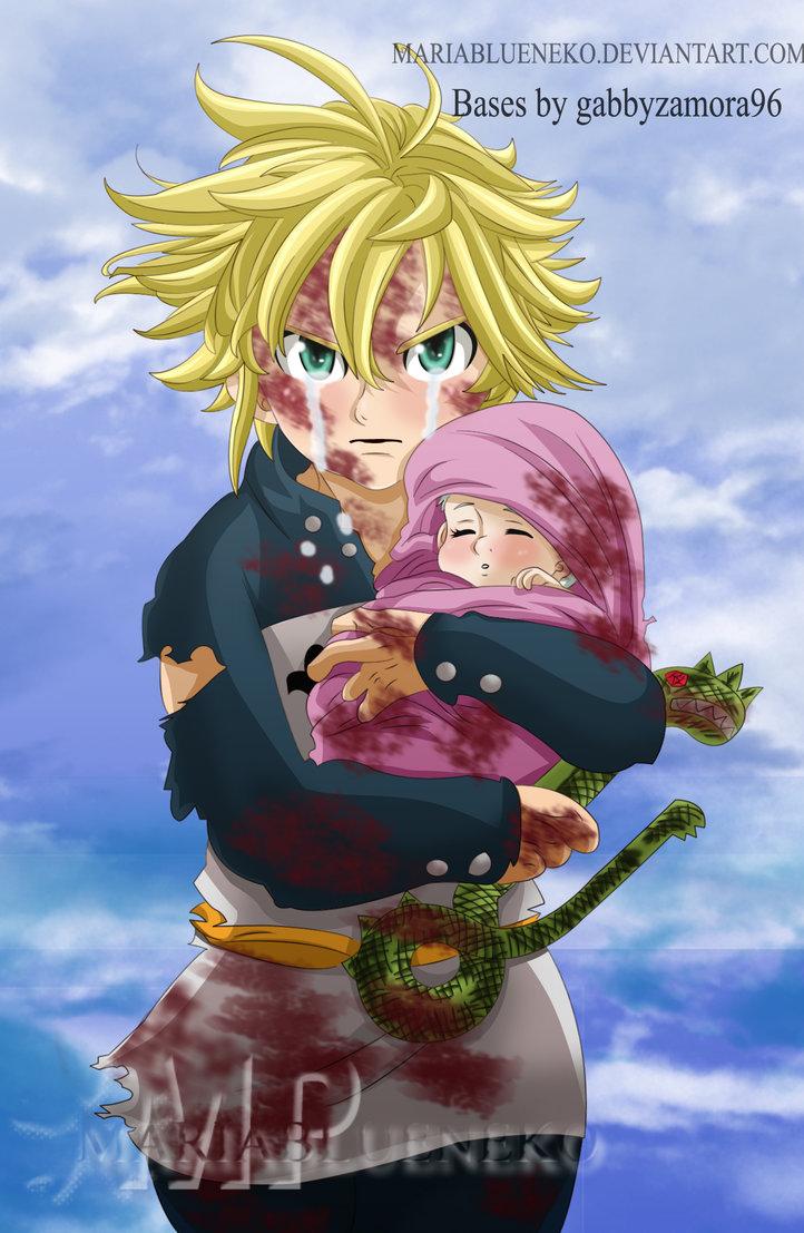 Fanart Nanatsu No Taizai Meliodas E Elizabeth - *Meliodas Protecting Baby Elizabeth: Nanatsu No Taizai ...