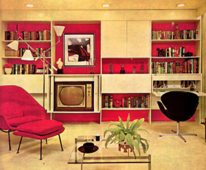 "A Furnished Living Room From The ""'70's"