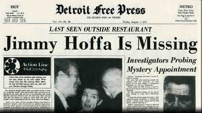 Article Pertaining To Jimmy Hoffa
