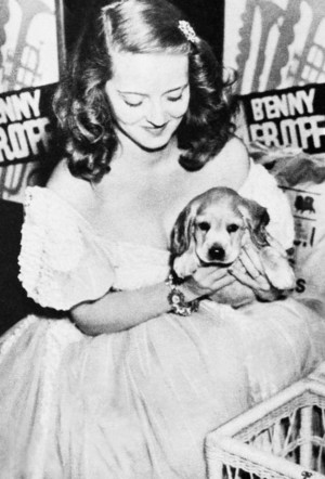 Bette Davis and her Dog