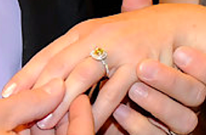 Debbie's Pretty Yellow Ring