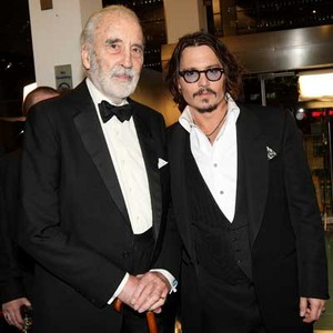 Johnny Depp and Sir Christopher Lee