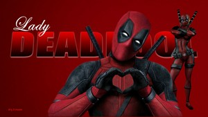 Lady Deadpool Wallpaper - In Love 5