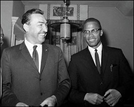 Malcolm X And Adam Clayton Powell, Jr.