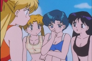 Minako Usagi Ami and Rei.