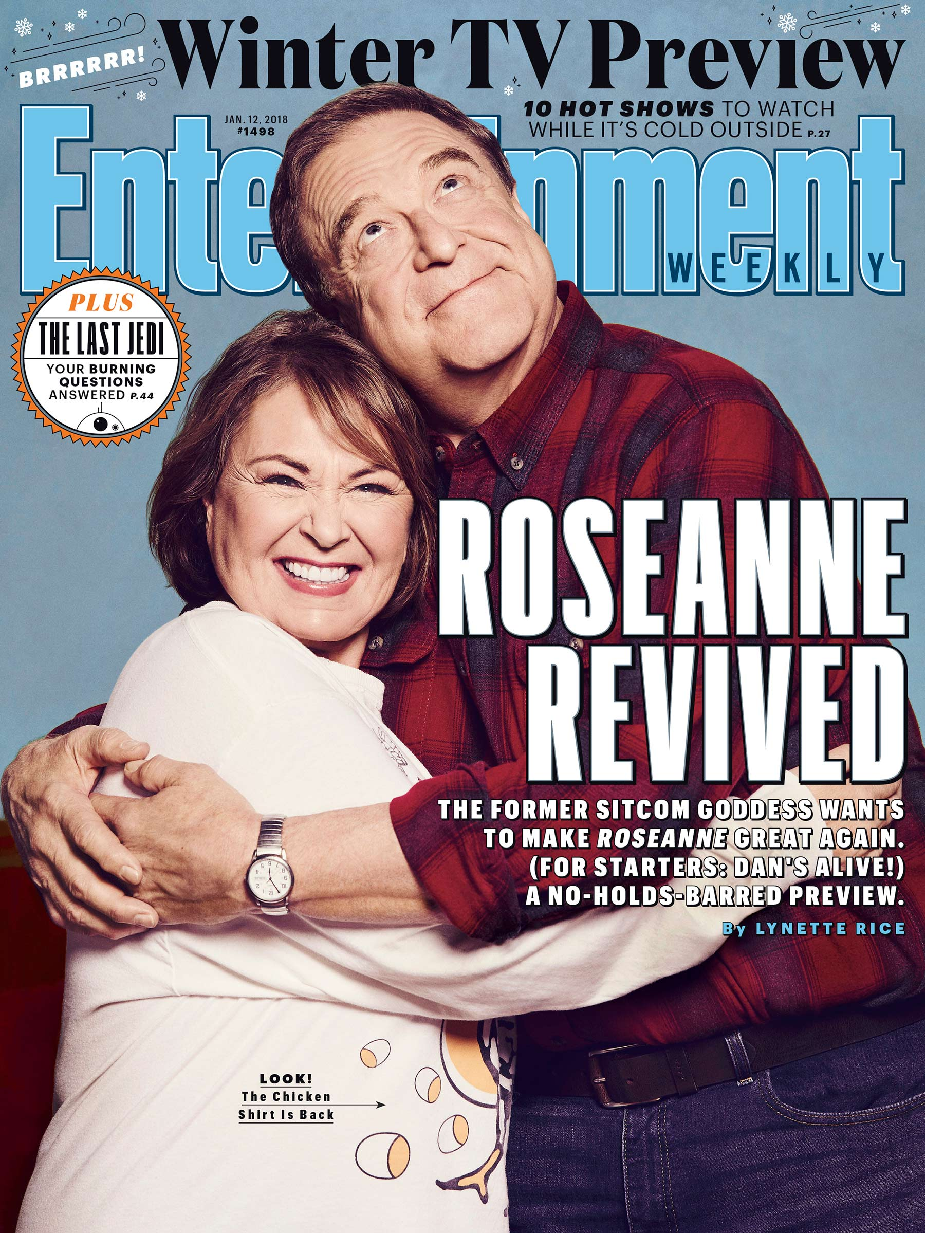 Roseanne Revived - Entertainment Weekly Cover - January 2018