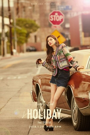 Suzy reveals もっと見る glamorous teaser 写真 for 'Holiday'