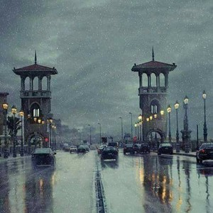 THIS ALEXANDRIA IN THE RAIN IN EGYPT