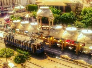 TRAM TRAIN ALEXANDRIA EGYPT