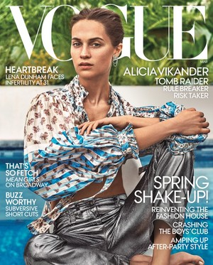 Alicia Vikander covers Vogue US [March 2018]