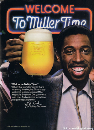 Promo Ad For Miller Time bier