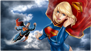 Superman   Supergirl In The Clouds 4