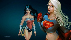 Wonder Woman and Supergirl wallpper