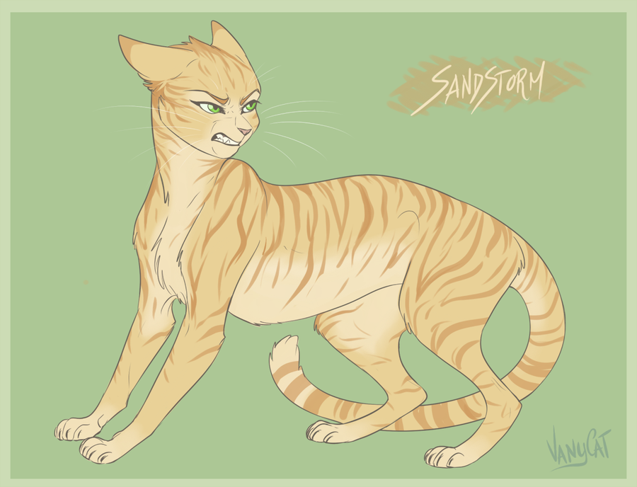 warrior cats   sandstorm by vanycat d9n2ucl