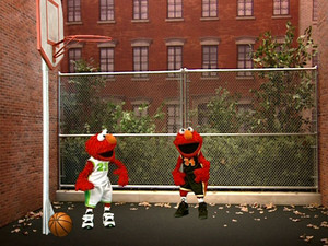 Elmo Playing Basketball (Elmo's World)