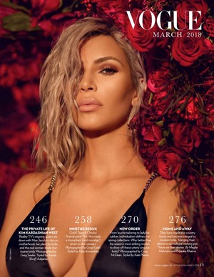 Kim Kardashian covers Vogue India [March 2018]