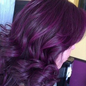 Purple and Plum hairstyle 1