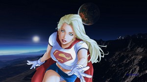 Supergirl Wallpaper - Over Mountain Range wallpaper 2