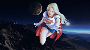 Supergirl wallpaper - Over Mountain Range wallpaper