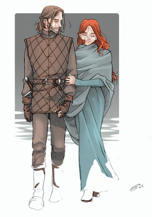 Young Ned and Catelyn por nami64