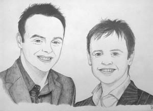 ant and dec portrait illustration দ্বারা drillustrations d5afwln