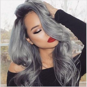 new arrival 1b grey ombre hair wig body wave