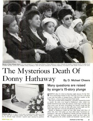 Article The Passing Of Donny Hathaway