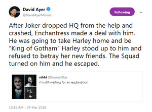David Ayer explains the Lost Joker scene.