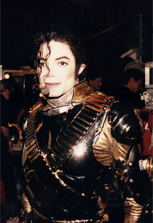 Michael Backstage During History Tour