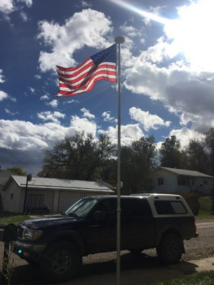 New flagpole