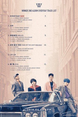 WINNER drop the tracklist of their new album 'EVERYD4Y'!