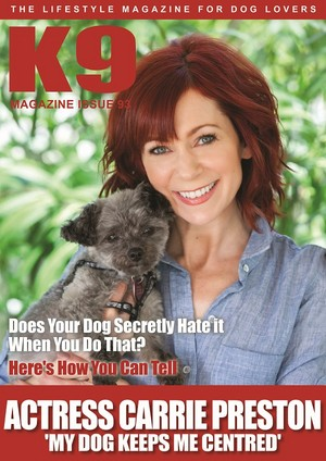 Carrie Preston and Chumley - K9 Magazine Cover - 2016