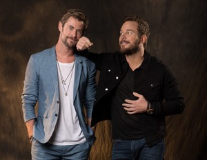 Chris Hemsworth and Chris Pratt - USA Today Photoshoot - 2018