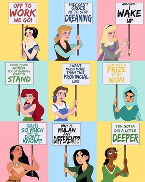 Disney Princess Protest Signs