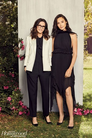 Gal Gadot and Elizabeth Stewart for The Hollywood Reporter [March 2018]