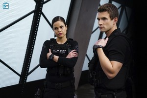 Lina Esco as Chris Alonso in SWAT - Armory