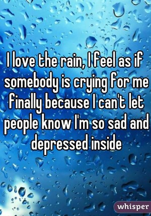 The rain does it for me