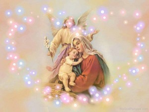 Beautiful Image Of Mother Marry With Jésus