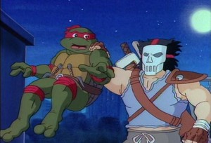 Casey Jones and Raphael TMNT 1987