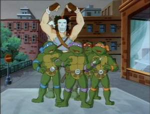 Casey Jones and the turtles TMNT 1987