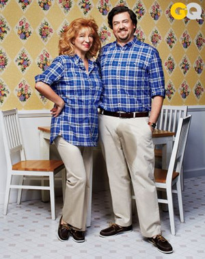 Danny McBride and Maya Rudolph - Awkward Family 사진 for GQ - 2013