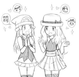 Dawn and Serena