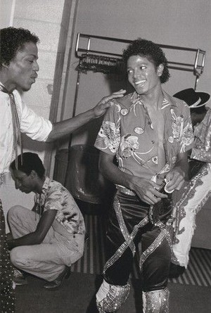 Michael And Marlon Backstage