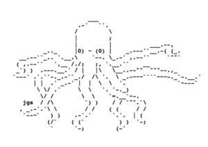 Octopus Text Art ascii art 36015433 500 354