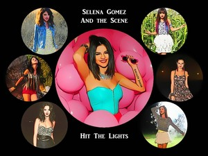Selena Gomez - Hit The Lights kertas dinding