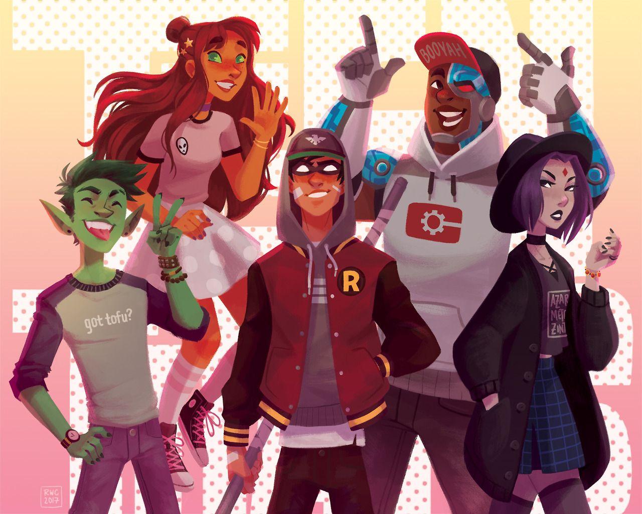 Teen Titans Os Jovens Titas Fa Art 41453969 Fanpop