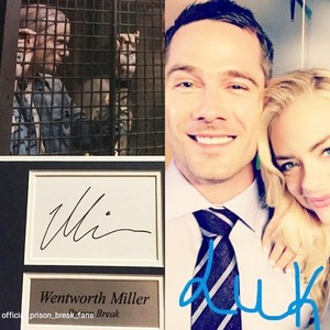 luke macfarlane and wentworth miller-autographs