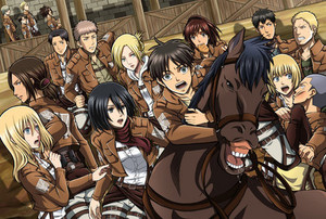 Attack on Titan characters <333