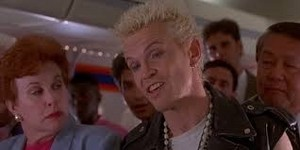 Billy Idol on plane