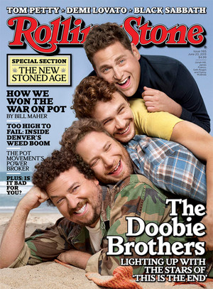 Danny McBride, Seth Rogen, James Franco and Jonah colina - Rolling Stone Cover - 2013